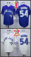 Wholesale 2017 Majestic Official Cool Base MLB Stitched th Season Toronto Blue Jays Roberto Osuna White BLue Jerseys Mix Order