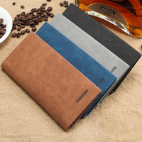 Wholesale European popular Ultra thin retro fashion and personality frosted youth soft wallet