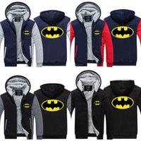 Men batman hoodie jacket - New BATMAN Zipper Cosplay Hoodie Winter Coat Fleece Unisex Thicken Jacket Sweatshirt USA EU size Plus size