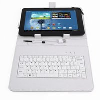 apple keyboard support - PU Leather case keyboard support universal White Color Tablet PC quot inch apad epad Station