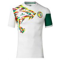 Wholesale Thai quality Senegal national football team jersey Home jerseys Senegal away football clothes Senegal White green home football shirt
