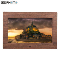 cheap wholesale 10 led digital picture photo frame wide screen slideshow music video player