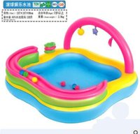 Wholesale Baby baby young children s inflatable swimming pool heightening children play pool adult family swimming pool
