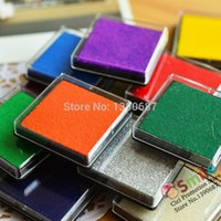 Wholesale X4CM Colorful Inkpad Colorful Finger Paint Inkpad Craft Oil Based InkPad DIY Fabric Wood Scrapbooking Finger Painting BK10221