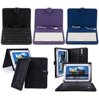 Wholesale Fashion Faux Leather Case with Mini Micro USB Keyboard for Inches Tablet smt88
