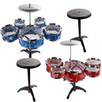 Wholesale 27 Jazz Drum Set with Chair Kids Early Education Toy Percussion Instrument for Children Birthday Gift