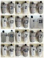 Wholesale New York Yankees Derek Jeter Alex Rodriguez Thurman Munson Mickey Mantle Mariano Rivera Stitched Cool Base Baseball Jerseys