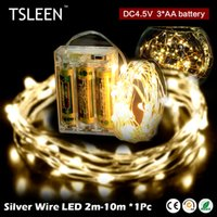 Wholesale Hot Sale String Light 10m 100leds Silver Wire Fairy With 12v 1a Led Strip For Home Furnishings Room Decoration Light