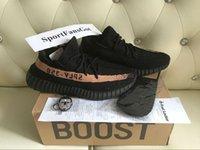 al por mayor grande y negro-SPLY-350 V2 BY1605 Gran tamaño 36-48 negro de bronce de cobre Kanye West V2 BOOST zapatillas con calcetines Receipt Llavero