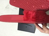 Wholesale WITH BOX AND DUST BAG RIHANNA LEADCAT FENTY WOMEN SLIPPERS IN RED