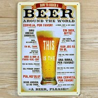 beer wallpaper - RZXD quot HOW TO ORDER A BEER quot Vintage Metal Painting tin signs Bar pub Wallpaper art Decor Mural Poster metal Craft x30 CM