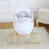 baskets baby - Baby bedding set for cradle basket Honeycomb cotton cloth bubble cloth baby Pieces bedding sheets cradle