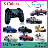 500pcs Universal Wireless Game Controller Game Joystick GamePad Handle Grip Jeux vidéo Joypad Black + Blue pour PlayStation 4 PS4 YX-PS4-11