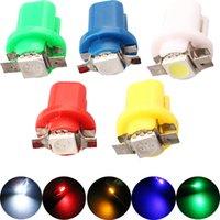 5050 base indicators - 50pcs DC T5 B8 SMD Dashboard Indicator Instrument Base Light dome bright lamp car light Car Wedge Light V
