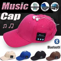 Bluetooth Headset apple baseball hat - Bluetooth Music Earphone Hat Baseball Caps Sunhat With Bluetooth Travel Sports Bluetooth Headset Stereo Headphone DHL