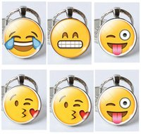 Wholesale Keychains Emoji Smile Key Chains Emoji Keychain Charm Pendant Small pendant Emotion Cute Key Ring Christmas Gifts