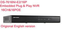 Precio de Tercero-El envío libre en el extranjero originales DS-7616NI-E2 / 16P encajó el enchufe del juego Las cámaras de red de tercera persona del NVR apoyaron ONVIF