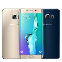 Wholesale Original Samsung Galaxy S6 G920 G925 Edge EU quot Octa Core Smartphone cellphone MP GPS Unlocked Refurbished Mobile Phone DHL
