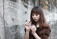 Pelo largo corte de pelo Baratos-Nuevo pelo ondulado grande ondulado largo del Lng de las mujeres del pelo natural de la manera con el pelo rizado puro de la edición de Han de la cortadura de pelo de la explosión que envía libremente