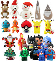 Wholesale Hot sale Cheap Cartoon Pendrives Pokeball Superman Star Wars Minions USB Flash Memory Stick Pen Drives Real GB GB For Christmas Gift