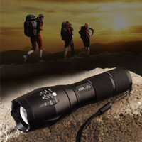 Wholesale Hot G700 E17 CREE XML T6 Lumens High Power LED Torches Zoomable Tactical LED Flashlights Torch Light for xAAA or x18650 battery