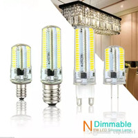 Led Light G9 G4 Ampoule Led E11 E12 14 E17 G8 Lampes Dimmable Spot Ampoules Light Sillcone Corps pour lustres