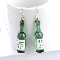 beer bottle filling - South Korea s New Personality Trendsetter Glass Beer Bottle Earrings Earrings Jewelry Fashion All match Female Hook Earrings