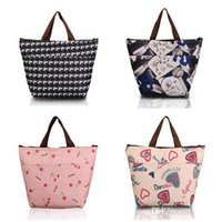 Wholesale Flower Oxford Picnic Thermal Bag Neoprene Lunch Bag Food Cooler Bags Thermal Women Handbag Mommy Bags
