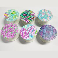 Wholesale LLY pop sockets LLY Floral ABS Plastic Phone Holders Plastic Phone Pop Sockets in six colors DOM106442