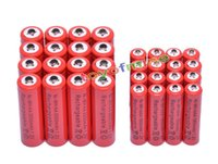 aa solar rechargeable batteries - solar panel solar x AA mAh x AAA mAh V NiMH Red Color Rechargeable Battery Cell A A Solar Panel