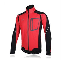 Wholesale ARSUXEO Winter Warm Up Thermal Jacket Mountain Bike Bicycle MTB Sports Clothing Windproof Waterproof Jersey D