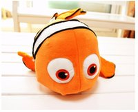 Wholesale 1pcs quot cm small plush toy Nemo clownfish Nemo plush toy golden fish hot selling super gifts for kids