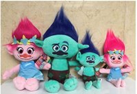 Wholesale 9 Inch Trolls Poppy Branch Plush dolls toys cm style children lovely cartoon Poppy Biggie Plush dolls toy