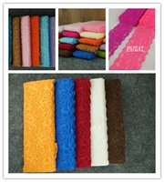 Wholesale Beautiful Lace Stretch Floral Lingerie Headband Elastic DIY dance dress sexy underwear fabric colors good lace for skirt