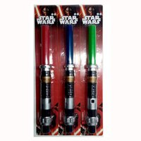 Électronique étoile rouge France-Star Wars Darth Vader Ultimate Extensible Lightsaber Spaghetto à LED Éclairage électronique à ventre à jouet blueredgreen / sound Blister Packaging