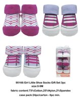 Wholesale USA Brand Luvable Friends YOGA SPROUT lovely cute fashion Soft Little Shoe Socks Gift set pc Washable Pink Red Light Purple Print