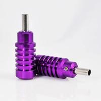 art steel tubes - Hot Sale Ribbed Tattoo Grip MM Purple Aluminum Alloy Gun Tubes Stainless Steel Tips Tools Kit For Body Art