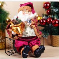 Vente en gros-Vente chaude! 35cm Poupée Poupée Figurine Jouet Intérieur En Plein Air Décoration Décoration Noël