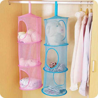 Wholesale 3 Shelf Hanging Storage Net Kids Toy Organizer Bag Bedroom Wall Door Closet
