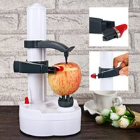 automatic vegetable peeler - New Multifunction Automatic Automatic Peelers Machine Electric Fruit Vegetables Peeler with Two Spare Blades Potato Carrot Peeling Machine