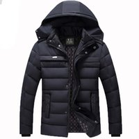 big coats - Hot Winter New White Duck Down Thick Warm old Mens Coats Jackets Outdoor Detachable Hood Big Size Warm Men Coat N030
