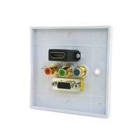 HDMI VGA 3RCA Ypbpr Composant AV Audio Panneau Murale Vidéo 86mm Square Type