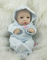 Wholesale 2016 New Arrival inch mini newborn baby doll realistic full silicone babies reborn christmas gift For Christmas free DHL
