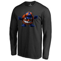 big mascots - 2016 Syracuse Orange Distressed Big Logo Ring Spun Midnight Mascot T shirt Hot press Men College black gray Long Sleeve T shirt Size M XL