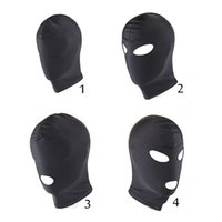 Acheter Masque pour les yeux bondage-4 Style Fetish Mask Hood Jouets sexy Open Mouth Eye Bondage Hood Party Masque Hood Headgear Mask Adult Game Sex Products