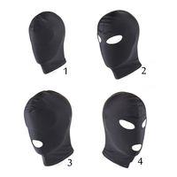 Wholesale 4 Style Fetish Mask Hood Sexy Toys Open Mouth Eye Bondage Hood Party Mask Hood Headgear Mask Adult Game Sex Products