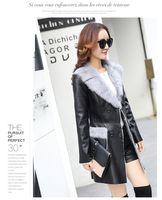 Wholesale manufacturer direct supplier XL new Fashion Slim Women winter fashion Jacket fur Collar sheepskin fur coat Faux Natura