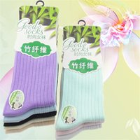 bamboo thickness - Winter Casual Meias Femininas Anti Friction Female Socks Bamboo Fiber Cotton Thickness Candy Color Knitted Socks For Women