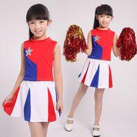 academic dress - Academic Dress Girl School Uniforms Set Kid Girls Student Cheerleading Costume Girl Cheerleader Suits Girl Cheerleading Costumes For Girls