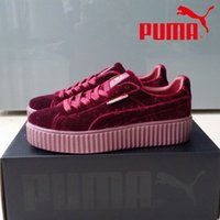 baseball pvc - 2017 Price Puma Rihanna Leadcat Fenty Wool Cloth With Soft Nap Men Womens Running Shoes New Style Sport Shoes Sneakers EUR